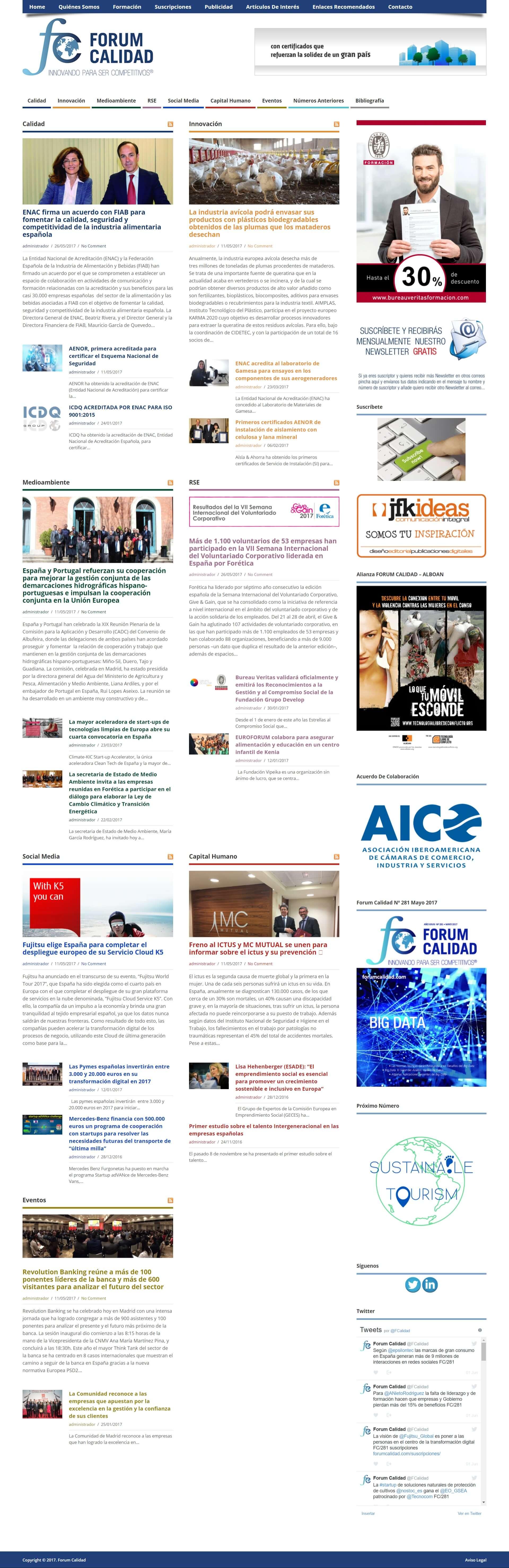 Desarrollo web - forum calidad